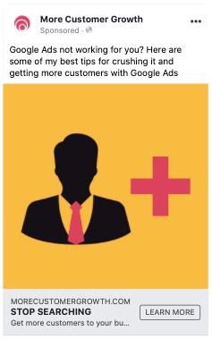 facebook ad for google ads