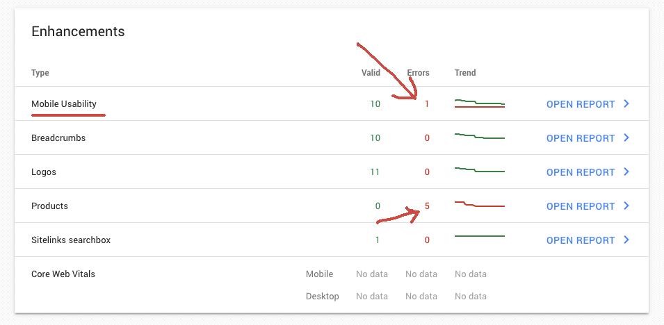 google console errors